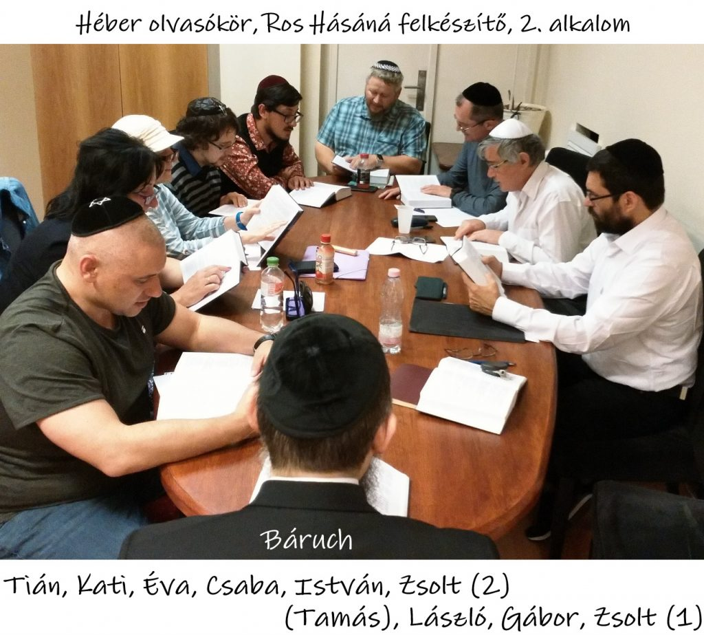 Héber olvasókör, Ros Hásáná felkészítő 2. rész, Oberlander Báruch