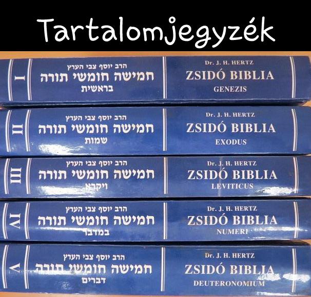 Biblia tartalomjegyzék, mi hol van?