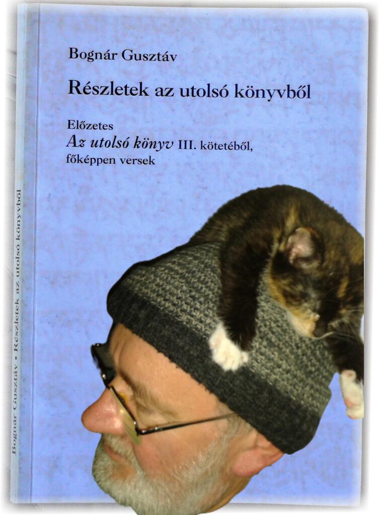Bognár Guszti, fején macska, könyv