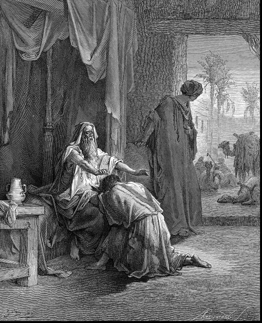 Izsák megáldja Jákobot