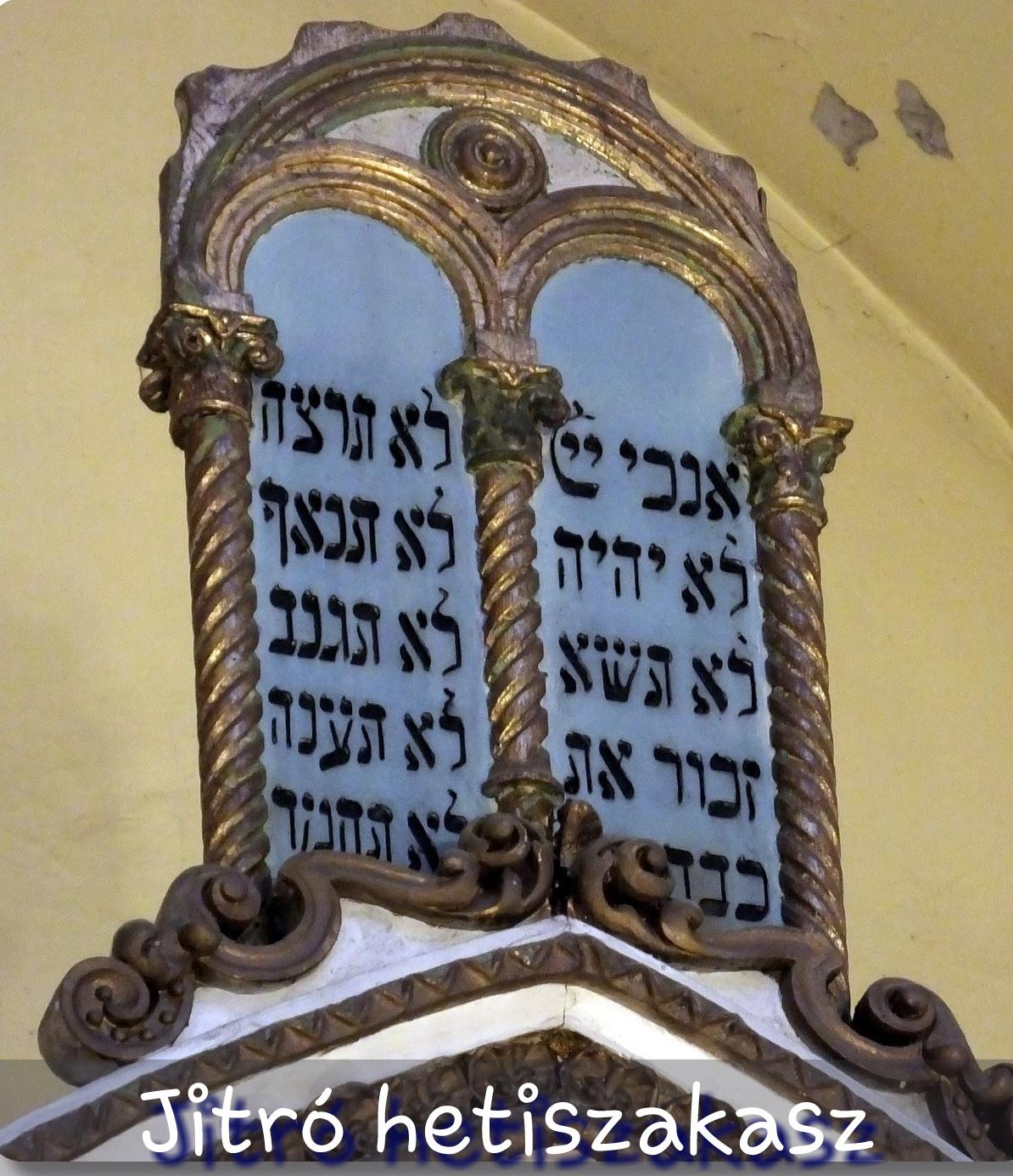 Jitró hetiszakasz, Tíz parancsolat