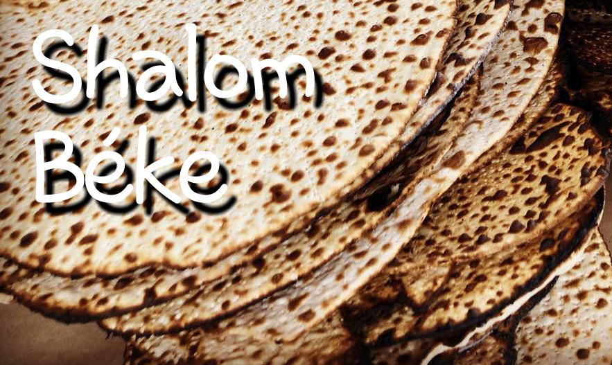 Shalom, béke, macesz, Pészah, tavasz