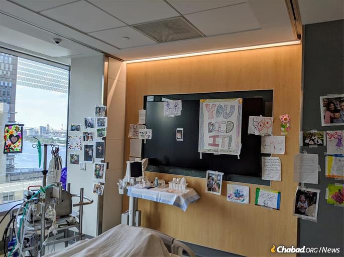 Rabbi Yudi Dukes' hospital room
