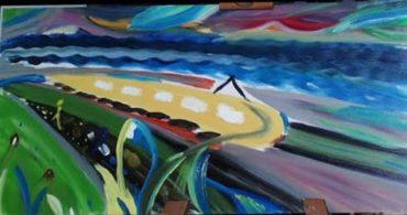 Fényvonat, Tamás-Haim (saját) festmény