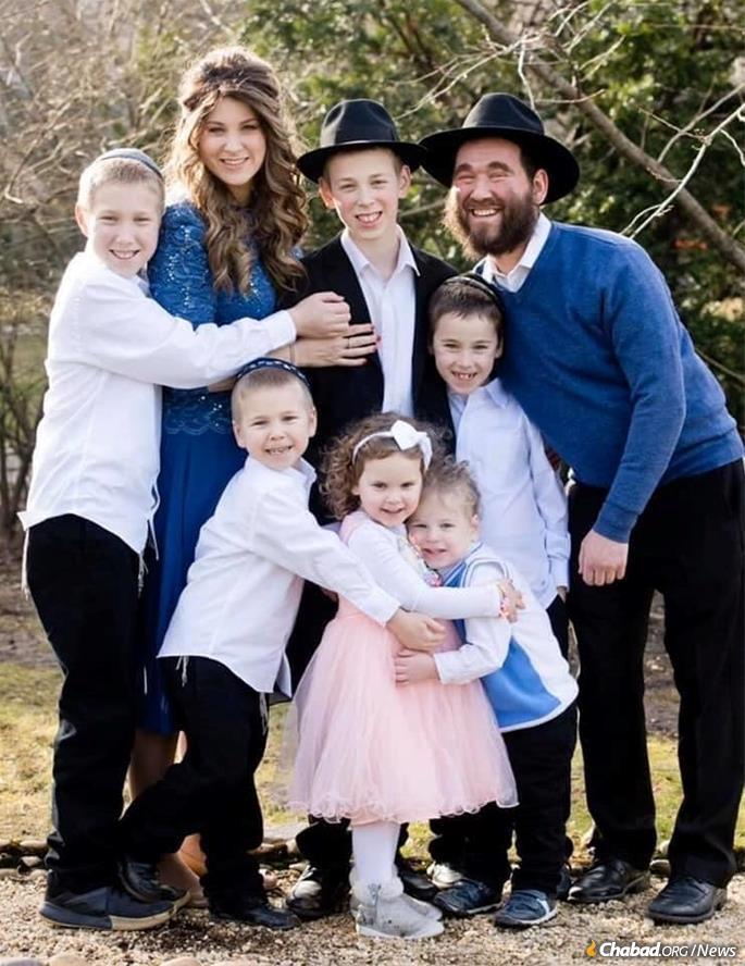 Yehuda Dukes with family